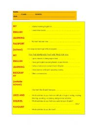 English Worksheets: student�s initial evaluation