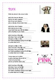English Worksheet: Pink by Aerosmith part 2