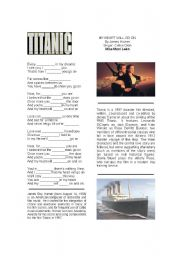 English Worksheets: Song- My heart will go on- Titanic- Fill in the blanks
