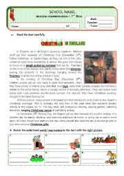 English Worksheet: Christmas in England