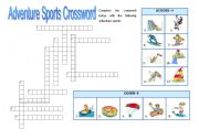 English Worksheet: Adventure Sports 2