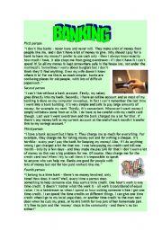 English Worksheets: Reading: BANKING
