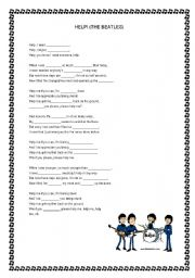 English Worksheets: help -the beatles