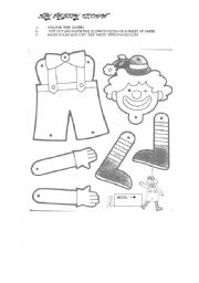 English Worksheets: MY CLOWN