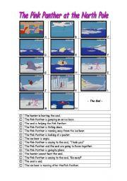 English Worksheets: The Pink Panther cartoon -- Fun comprehension worksheet