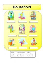 English Worksheets: Household