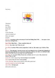 English Worksheet: play script