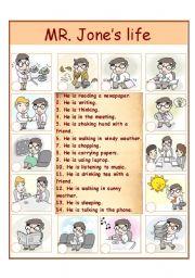 English Worksheets: Mr. Jone�s life