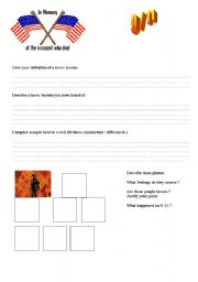 English Worksheets: SEPTEMBER 9 / 11