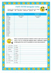 PAST SIMPLE with irregular verbs