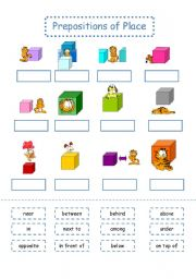 Grammar worksheets > Prepositions > Prepositions of place ...