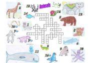 English Worksheets: Animals Crosswords Puzzle
