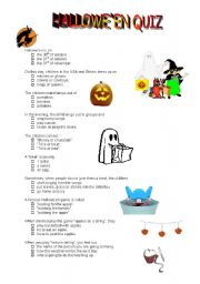 english worksheets halloween quiz - Halloween Quiz For Kids