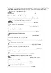 English Worksheet: Key Word Transformation (worksheet 2)