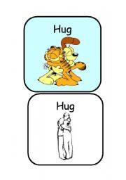 English Worksheets: HUG - �ACTIONS FLASHCARDS