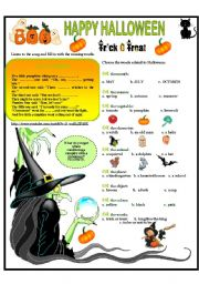English Worksheets: HAPPY HALLOWEEN
