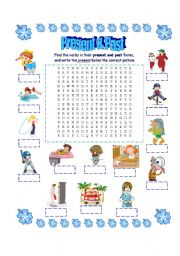 Present & Past Wordsearch