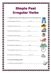past tense verbs worksheets further  likewise  furthermore  as well PAST SIMPLE   IRREGULAR VERBS worksheet   Free ESL printable furthermore Simple Past   irregular verbs  26 10 08    ESL worksheet by additionally ESL GRAMMAR UNIT Using Regular and Irregular Verbs in the Past furthermore Irregular Past Tense Verbs by barang   Teaching Resources additionally  moreover  likewise Verbs Worksheets   Irregular Verbs Worksheets as well Regular and Irregular Verbs Past Tense besides Writing irregular verbs worksheets   K5 Learning in addition Verb To Be Worksheets Pdf 1st Grade Irregular Past Tense Verbs likewise Worksheet   Irregular Verbs Circling P Beginner Past Tense further Irregular Verbs  The Past Simple Tense. on irregular past tense verbs worksheet