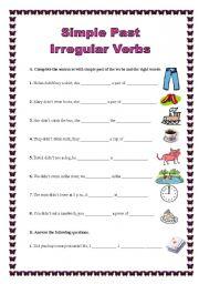 Past and Present-Tense Irregular Verbs Worksheet Irregular Verbs ...