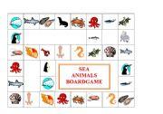 English Worksheets: SEA ANIMALS BOARDGAME