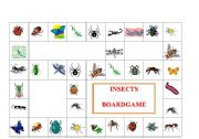 English Worksheets: INSECTS BOARDGAME