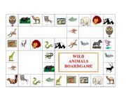 English Worksheets: WILD ANIMALS BOARDGAME
