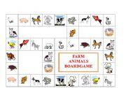 English Worksheet: FARM ANIMALS BOARDGAME