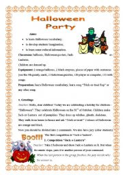 English Worksheets: Halloween Party