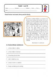 English Worksheets: Describing actions