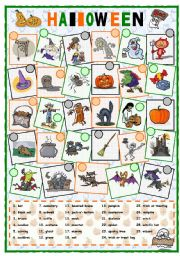 English Worksheets: Halloween vocabulary