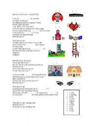 English Worksheets: Music :How do you do - Roxette