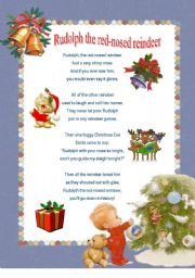 english worksheet christmas carol rudolph the red nosed reindeer