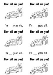 English Worksheet: How old are you worksheet