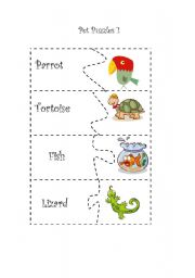 English Worksheets: Pet Puzzles