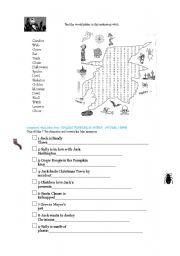 English Worksheet: THE NIGHTMARE BEFORE CHRISTMAS PART 3