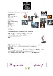 English Worksheets: THE NIGHTMARE BEFORE CHRISTMAS PART 4 + KEYS