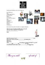 English Worksheet: THE NIGHTMARE BEFORE CHRISTMAS PART 4 + KEYS