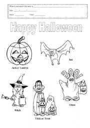 english worksheets halloween - Halloween Vocab Words