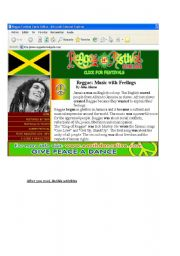 English Worksheets: Reggae