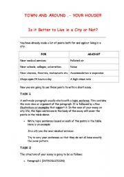 English worksheet: Town and around