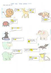 english worksheets animal game adaptation. Black Bedroom Furniture Sets. Home Design Ideas