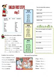 English Worksheets: FIRST ENGLISH STEPS --- Step 3