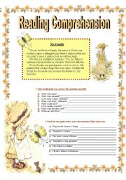 Reading Comprehension Exercise
