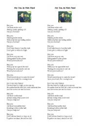 English Worksheet: Hey You, by Pink Floyd