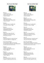 English Worksheet: Hey You, by Pink Floyd