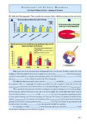 English Worksheet: SPOTLIGHT ON GLOBAL WARMING