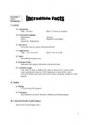 English Worksheets: Incredible Facts - Evaluation