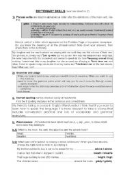 English teaching worksheets: Working with the dictionary