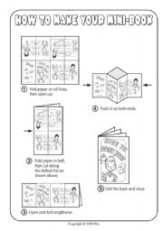 English Worksheet: How To Make Your Mini Book