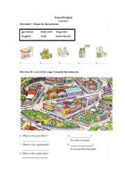 English Worksheet: Where is the hospital?